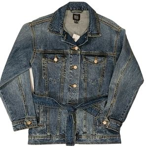 NWT Urban Outfitters BDG Denim Jacket With Tie